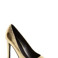 Women's Topshop 'Gemini' Metallic Pointy Toe Pump,