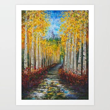 Uncompahgre National Forest Art Print by Lena Owens/OLenaArt