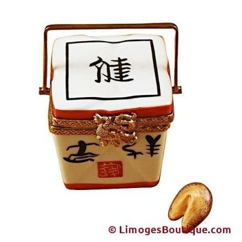 CHINESE TAKE OUT W/CALLIGRAPHY FOOD LIMOGES BOX