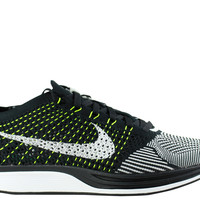 Nike Men's Flyknit Racer Black White Volt