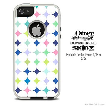 The Inverted Fun Colored Polka Dot Skin For The iPhone 4-4s or 5-5s Otterbox Commuter Case