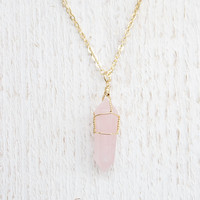 Rose Stone Long Necklace