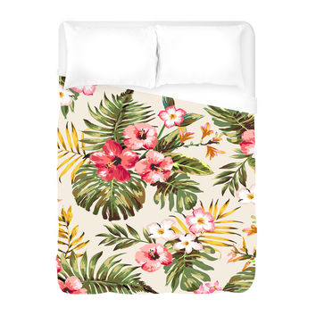 Tropical Flowers Duvet Cover