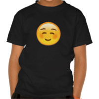 White Smiling Face Emoji T-shirts