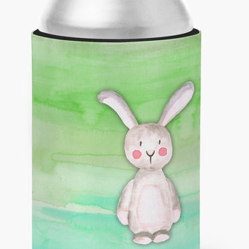 Bunny Rabbit Watercolor Can or Bottle Hugger BB7437CC