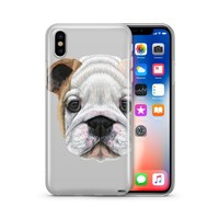 English Bulldog Puppy - Clear Case Cover