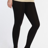 Curvy| Everyday Basic Ankle Legging - Black