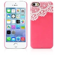 iPhone 5S Case, MagicMobile® Ultra Slim-Fit Protective Case for iPhone 5/5s Hard Lace Cute 3D Pearls Luxury Fashion Bling Dimonds Impact Resistant Cover for iPhone 5S Armor Thin Case | Rose Pink