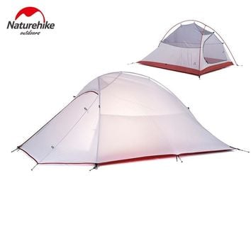 Naturehike Cloud Up Series 1 2 3 Person Ultralight Tent 20D Silicone Tent Double Layer Outdoor Camping Hiking Tent with Free Mat