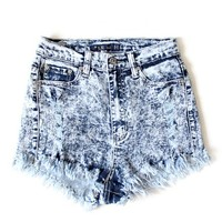 Stevie Acid Distressed Highwaisted Shorts from Shop Gracie