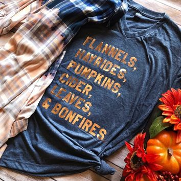 Flannels, Hayrides, Pumpkin, Cider and Bonfires