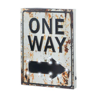 Light-Up One Way Sign