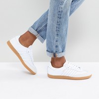 adidas Originals Samba Trainers In Off White With Faux Reptile Trim at asos.com