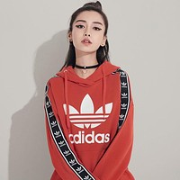 """Adidas"" Fashion Women Men Loose Print Long Sleeve Hoodie Pullover Tops Sweater Sweatshirts I"