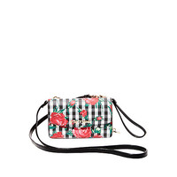 GINGHAM STYLE 2 IN 1 CROSSBODY: Betsey Johnson