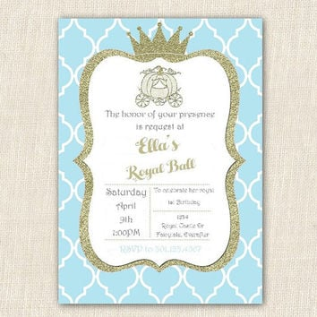 Cinderella Invitation Cinderella Party Cinderella Birthday Customizable 5x7 Printable Princess Birthday