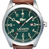 Men's Lacoste 'Montreal' Leather Strap Watch, 44mm