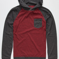 Retrofit End On End Boys Lightweight Hoodie Burgundy  In Sizes