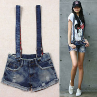 Summer Women wild worn overalls / Jeans shorts #6022