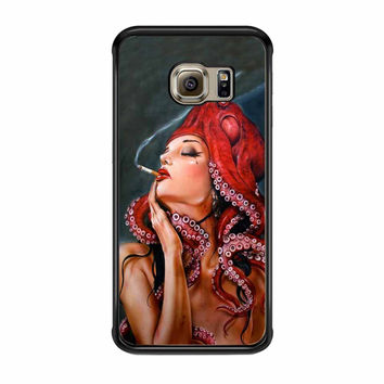 Octopus Tattooed Sigaret Samsung Galaxy S6 Edge Case