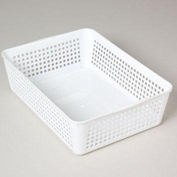 Storage Basket Rectangular Slotted 12 X 8.66 X 3.44