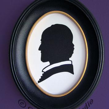 William Shakespeare Hand-Cut Paper Silhouette Portrait