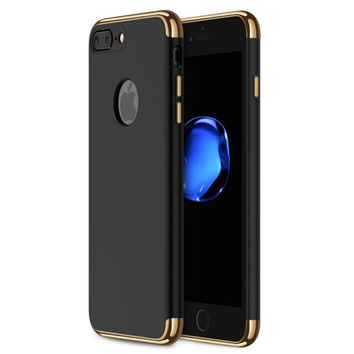 iPhone 7 Plus Case, RANVOO 3 in 1 Anti-Scratch Shockproof Electroplate Frame wit