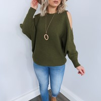 Never Say Never Sweater: Olive