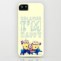 Because i'm happy - for iphone iPhone & iPod Case by Simone Morana Cyla