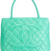 Chanel Vintage Quilted Logo Tote - A.n.g.e.l.o Vintage - Farfetch.com