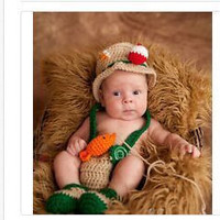 Newborn Baby Girls Boys Crochet Knit Costume Photo Photography Prop = 4457524420