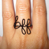 Friendship Ring Best Friend Ring Custom Colors and Sizes Unique Bridal Gifts Dainty Ring Gift for Her
