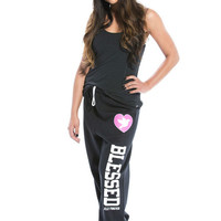 Blessed Sweatpants Black