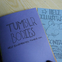 anonymous bodies of tumblr zine. hand drawn door helzillustrates
