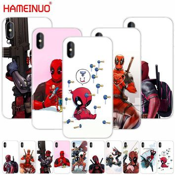 Deadpool Dead pool Taco HAMEINUO  Super Cool Marvel  cell phone Cover case for iphone X 8 7 6 4 4s 5 5s SE 5c 6s plus AT_70_6