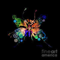 Rebirth Photograph by Fran Riley - Rebirth Fine Art Prints and Posters for Sale #butterfly #art #daysray #clockworks