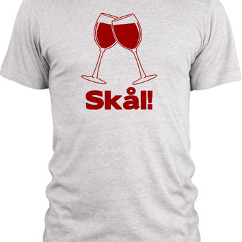 Big Texas Wine Glass Danish Cheers (Red) Vintage Tri-Blend T-Shirt