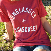 Sunglasses And Sunscreen Tee
