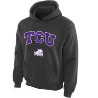 TCU Horned Frogs Midsize Arch Pullover Hoodie - Dark Gray