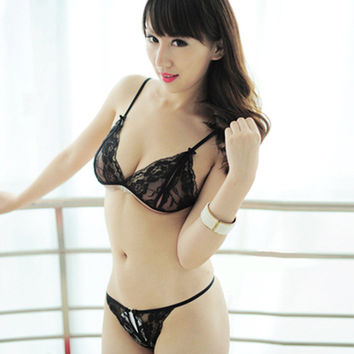 Cute Hot Deal On Sale Transparent Lace Sexy Set Uniform Exotic Lingerie [6595717507]