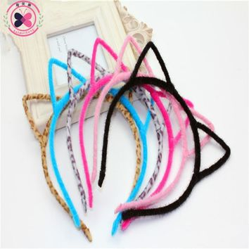 Haimeikang Girls Cat's Ears Hair Hoop Hairbands 6 Colors Stylish Women Headband Sexy Cat ears Hair Band Accessories Headwear