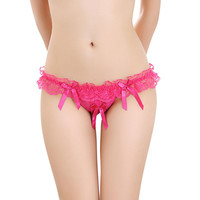 Sexy Womens Knickers Thongs G String Briefs Lingerie Underwear Lace Open Crotch
