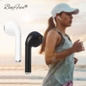 TWS I7 Bluetooth Earphone In-Ear Music Wireless Earbud With Mic For Apple iPhone X Samsung Xiaomi Single Right Ear head phone
