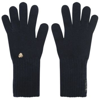 Armani Girls Cashmere Navy Gloves
