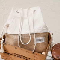 Canvas Beach Bag Large Tote Bag Shopper Tote Purse Canvas Tote Striped White