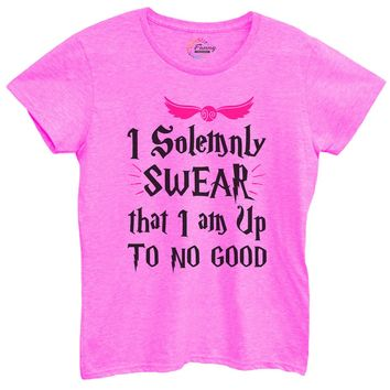 Womens I Solemnly Swear That I Am Up To No Good Tshirt