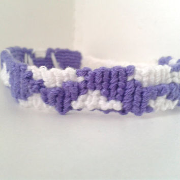 Cloud Pattern Friendship Bracelet - Adjustable Alpha Hand-woven Bracelet