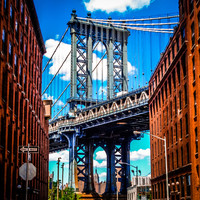 Manhattan Bridge New York Canvas Fine Art Photo Print