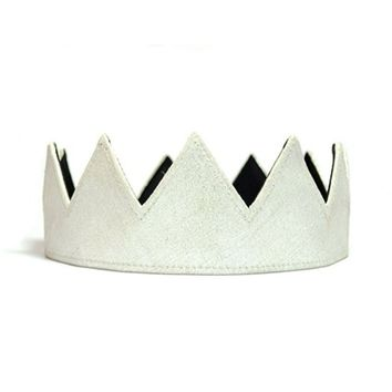 Silver Leather Crown