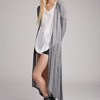 Open-Knit Maxi Cardigan